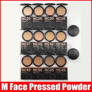 M face maquiagem pressionada pó de alta qualidade NC 12 cor pó sopra fundação com espelho sopro 15g