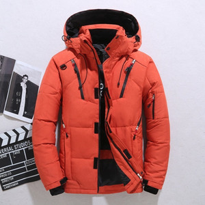 High Quality Down Jacket Male Winter Parkas Men White Duck Down Jacket Hooded Outdoor Thick Warm Padded Snow Coat Oversize M -4xl 201014