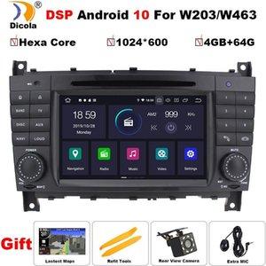 Jugador IPS PX6 Hexa Core DSP Android 10 Coche DVD para C-Class W203 2004-2007 Autoradio Estéreo GPS Navegación RDS BT1