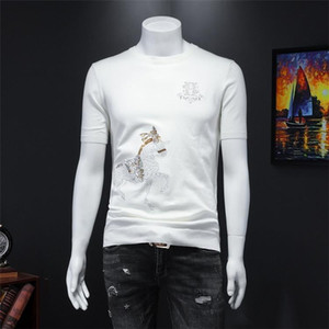 Men's Fashion Pullover Sweater Men's O-neck Embroidery Print Slim Knit Sweater Designer 2020 New Product Explosion Luxury Men&#039