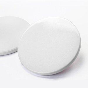 9cm Sublimation Blank Ceramic Coaster White Ceramic Coasters Heat Transfer Printing Custom Cup Mat Pad Thermal Coasters HWB11036