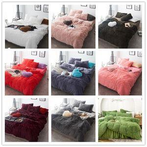 Sheet Winter Thicken Four-piece Bedding Set Designer Comforters Flannel Coral Fleece Bed Sets WY828-1