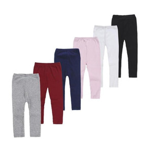 Girls Tights Elastic Leggings Girl Candy Color Toddler Knitted Trousers Kids Skinny Pants Baby Clothing 6 Design Optional WQ166