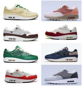 2021 Ámsterdam 87 aniversario Air 1 Londres Piet Parra Zapatillas de correr Evergreen Aura Premium Lunar 1S Deluxe Sandía Reaccionar zapatillas de deporte