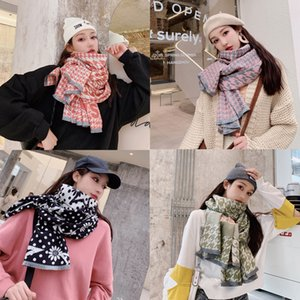 New winter mixed colors warm winter 2019 cashmere scarves shawl female factory direct reversible,