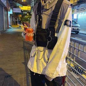 Gilet esterna petto petto tattico giubbotto nero petto pacchetto anteriore sacchetto fondina holster rigam carry per due way radio baofeng walkie1