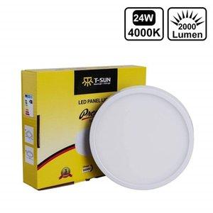 T-SUN Thin 24W 3000K 4000K 6000K Round Square Aluminum Surface Mounted LED Downlight Ceiling down lamp Panel Light AC85-265V Q1121