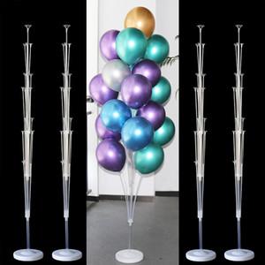 2set Feliz cumpleaños Globos Bolas de aire Sket Stick Stick Baloon Fiesta de cumpleaños Decoración de la fiesta para niños Niños Adulto Ballon Holder Ballons Accesorio Y201006