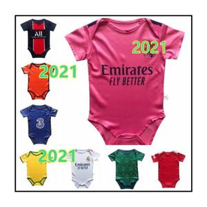 Le dernier jersey bébé Jersey2020 Real Madrid 2 étoiles Mbappe Baby Football Jersey 2020-2021 6-18 mois chemise de football
