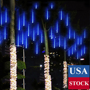 20 inch 10 Tubes 480 LED Meteor Shower Raindrop Lights , Cascading Lights LED Icicle Falling Raindrop Lights