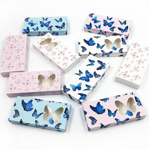 Butterfly Falso Pestañas Packaging Box 3D visón Pestañas cajas Caja vacía Cajas de pestañas Papeles Packaging 11 estilos