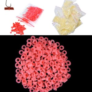 About 2500PCS 10bags Red Yellow Bloodworm Bait Granulator Bait Fishing Accessories Fish Tackle Rubber Bands For Fishing