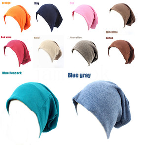 Adult Knitted Hats Candy Color Sport Street Hip Hop Caps Casual Loose Knitting Cotton Christmas Party Hats Supplies 20styles DB429