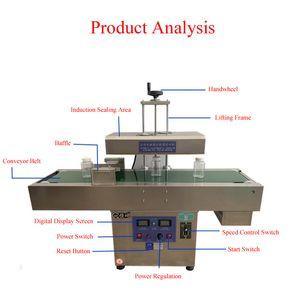 Commercial Automatic electromagnetic induction aluminum foil sealing machine Vertical induction sealer aluminum foil sealing machine 2100W