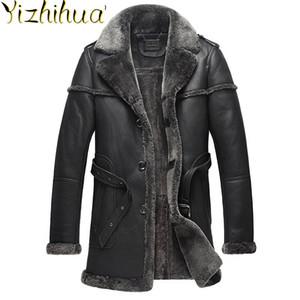 Azazel Natural Fur Sheep Shearling Jacket Winter Genuine Leather Jacket Men Sheepskin Real Fur Coat Men Clothes 2020 B538