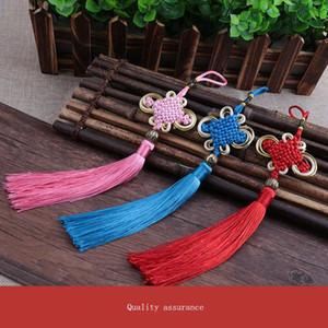 10pcs Multicolore Knot Knot Tassel Pend Diy Bijoux Accessoires Accueil Textile Rideau Vêtement Couture Macrame Décoration Pendentif H JlldXP