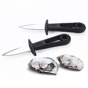 Coquille Openier Couteau d'huître Fresh Oyster Oyster Fruits de mer Ouvrir Outil ouvert Scalop Couteau Acier Inoxydable BBQ Profilé Spécial Coupes de crustacés FWC3839