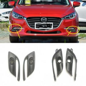 2pcs Kit Car Front Left + Right Bumper Fog Light Lamp Frame Cover Grille Trim Fit for Mazda 3 Axela 2017-2019