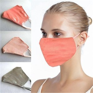 3 Colors Cloth Fashion Bling Mask For Women Anti-dust Breathable Washable Face Cover Free Shipping