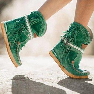Bottes de cow-boy de BLWBYL WESTERN WESTERNES pour Femme Cuir Bottes Cowgirl Bottes Low Heels Chaussures Boutique Haute Femme Winter1