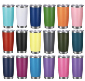 Stainless Steel Tumblers with Lid Water Bottle Egg Cups Wine Beer Travel Insulated Vacuum Large Capacity Ice Mugs 20oz sea shipping OWC4170
