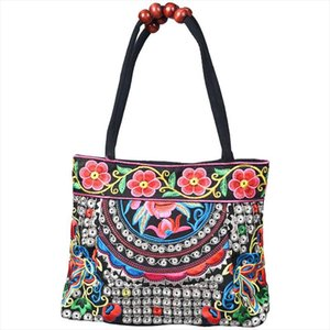 Chinese Style Women Handbag Embroidery Ethnic Summer Fashion Handmade Flowers Ladies Tote Shoulder Bags Cross body