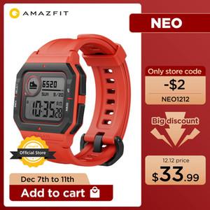 2020 новых Amazfit Neo Smart Watch 28 дней срок службы батареи Bluetooth SmartWatch 3 Спортивные режимы 5ATM Сердечная скорость для Android IOS Phone