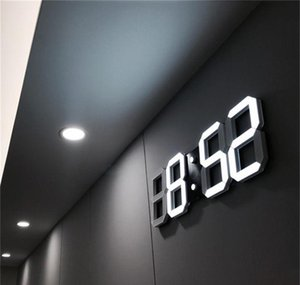 Décor Garden Drop Delivery 2021 Design 3D Led Modern Digital Alarm Clocks Home Living Room Office Table Desk Night Wall Clock Display H1Jf6