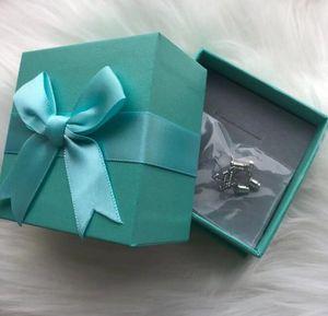 Moda Tasarımcı Mektup Küpe Takı ile Shining Kristal CZ Elmas Saplama Küpe Hediye Kutusu Ile Parti Düğün Için
