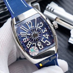 New Yachting Vanguard Classic V45 SC DT Japan Miyota Automatic Mens Watch 3D Dial Silver 316L Steel Case Leather Strap Watches Shine_time