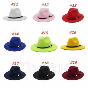 Men's Fedora Hat For Gentleman Women Hats Wide Brim Jazz Church Cap Band Wide Flat Brim Jazz Hats Party Hats