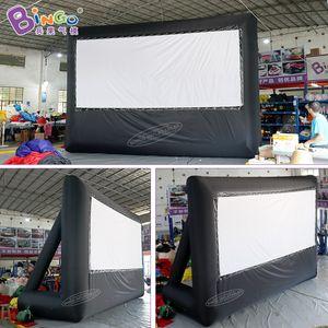 شخصية 6.5x4.5 متر نفخ شاشة المسرح / شاشة الإسقاط نفخ / تفجير فيلم الشاشة في الهواء الطلق اللعب الرياضية