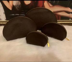 4шт макияж косметическая сумка снежинка знаменитое тщеславие чехол женщин организатор макияж сумка коричневая блестящая кожаная туалетная кишка сцепление пакет