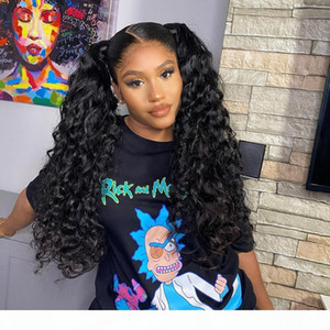 Water Wave 13x4 Transparent Full Lace Front Wig Human Hair Wigs Deep Curly HD Frontal Wig Remy Brazilian Hair Pre plucked