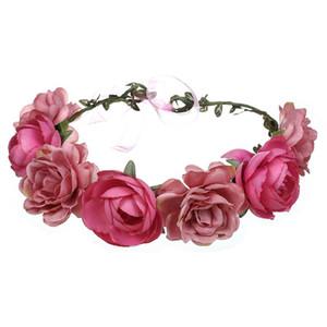 Süße elegante einstellbare handgemachte Kranz Wedding Stirnband Tuch Garland Künstliche Rose Blume Party Festival Braut Kopfschmuck
