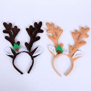 New Christmas Headband Hat Fancy Dress Hat Reindeer Antlers Santa Xmas Kids Baby Girls Adult Novelty Hairwear For New Year Gift BEB3481