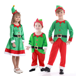 New Christmas children's costumes boys and girls costumes Elves costumes Children Santa Claus suits children's Cosplay
