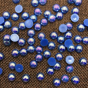 New 2mm 4mm 6mm 8mm 10mm Size Half Round Bead Flat Back Beads Pearl Scrapbooking Embellishment bbyfzq cxj_love