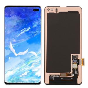 Originele Super AMOLED para Samsung Galaxy S10 Plus SM-G975U LCD Pantalla LCD Pantalla táctil Digitalizador Reemplazo de repuesto al por mayor Piezas de repuesto