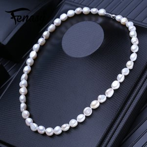 FENASY Natural Freshwater Pearl Necklaces For Women Baroque Long Necklace Wedding Jewelry Neck Accessories Z1126