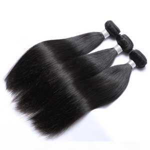 Top Grade 7A Mixed 3pcs 8-30inches Brazilian Virgin Human Weave Natural Color Silky Straight Hair Weft Extensions Free Shipping