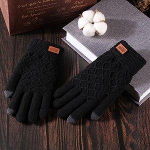 Warm Coral Fleece Verdicken Handschuhe Winter Massivfarbe Halten Sie warm winddicht Plüsch pelzige volle Fingerhandschuhe weiche Handschuhe für Erwachsene
