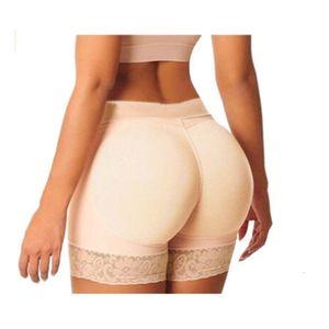 منخفضة الارتفاع سيليكون سراويل مبطن whoonwomen اللباس الداخلي وسادة 2 قطع سيليكون ملابس داخلية بوم بوت الورك محسن داخلية Y200425