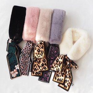 Tiktok, écharpe écharpe, mode, chaleur et épaississement, version coréenne de l'archet de serviette de cheveux de lapin de loutre.