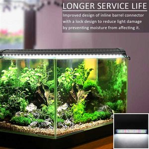 New Design 15W 48LED Full Spectrum Aquarium Lights high quality Sea Coral Lamp 23.6inch Black (Suitable For 23.6-31.49inch Long Aquarium)