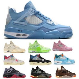 Jumpman 4 4S парусник баскетбол обувь мужская профсоюз от Noir Guava Ice Scarpe 2021 новое поступление женщин синий спортивный тренер тенса кроссовки обувь