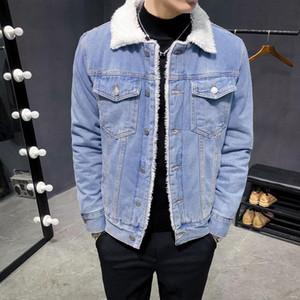 Winter Jean Jacket Men Denim Jackets Outerwear New Men Large Size Wool Liner Thicker Warm Denim Coats Size 6Xl KK3036