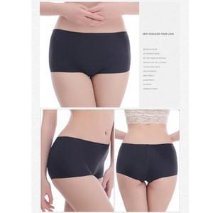 Seamless Female Boxer Ice Silk Ladies Safety Short Waist Summer Women Women Underwear Pants Mid Panites Boyshorts L1J3