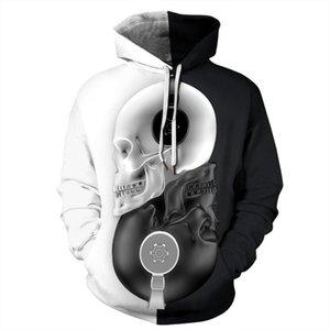 Music Headphone Skull Autumn New 3d Printed Hooded Sweatshirt HOB-04 Casual Full Regular Loose Thin Polyester O-neck