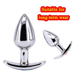 Metal Butt Plug Small Steel Anal Plug for Women Sex Toys Buttplug with Crystal Jewelry